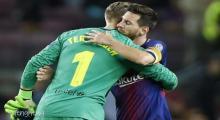 image of Ter Stegen Harap Messi Segera Pulih dari Cedera
